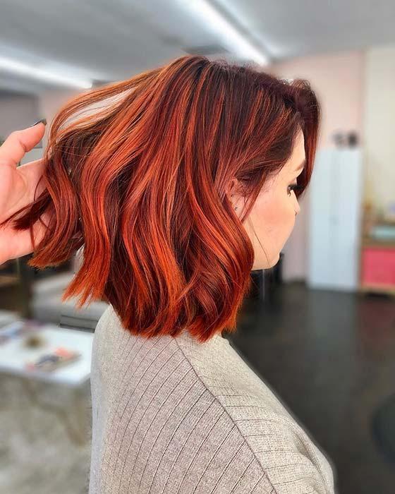 Copper Red Bob Hairstyle Idea