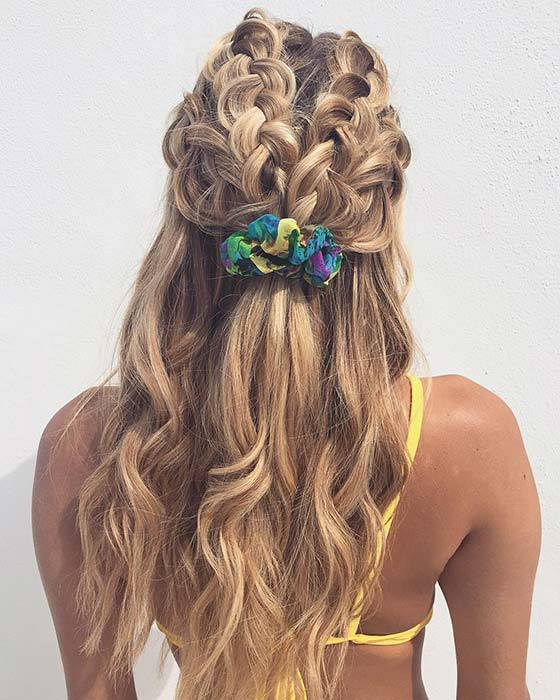 Half Up, Half Down Braids for Summer