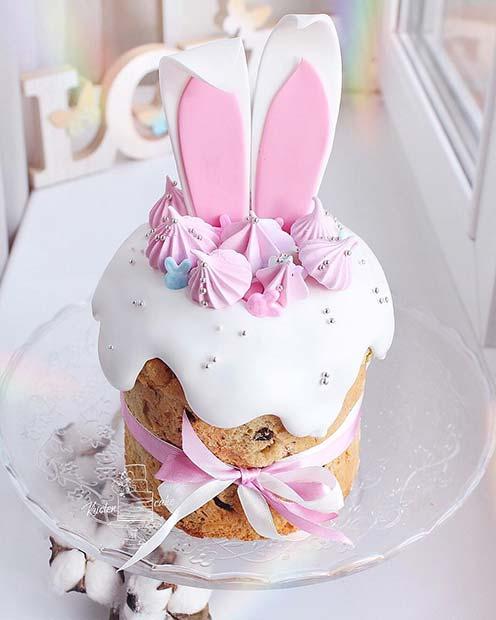 Cute Bunny Ears Cake