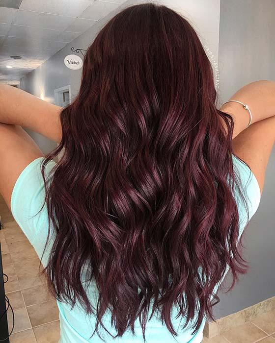Dark Burgundy Hair Idea