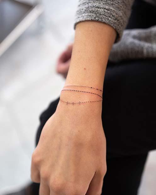 Delicate Wrist Bracelet Tattoos