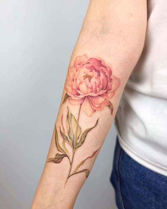 b59dfccf7 21 Beautiful Peony Tattoo Ideas for Women | Page 2 of 2 | StayGlam