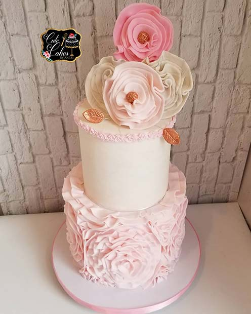 Floral Baby Shower Cake Idea