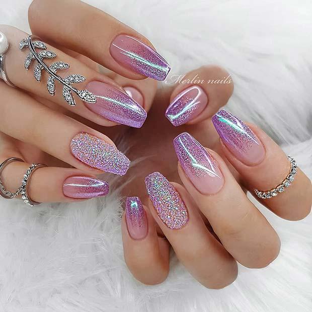 Glam Glitter Ombre Nail Design