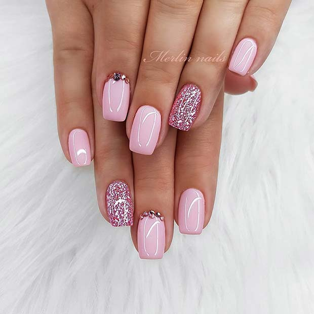 Glam Pink Acrylic Nails
