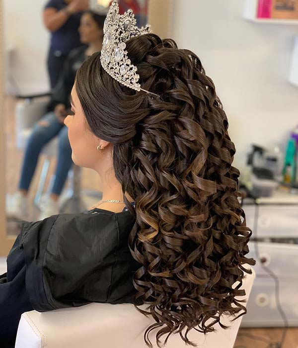 48 of the Best Quinceanera Hairstyles That Will Make You ...  |Beautiful Hairstyles For Quinceaneras