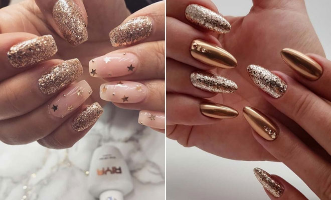 23 Gold Nail Designs For Your Next Trip to The Salon