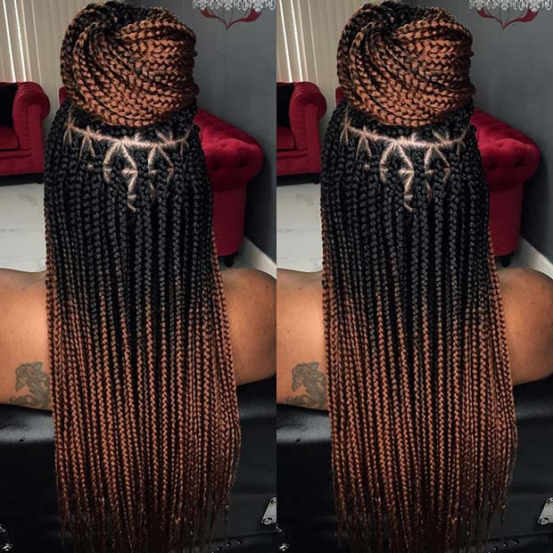 Ombre Braids with Triangle Parts