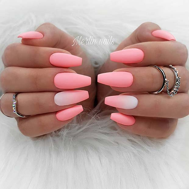 Matte Pink Nails for Summer