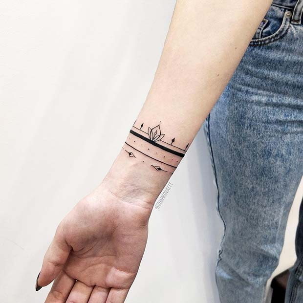 Multi Bracelet Tattoo Design