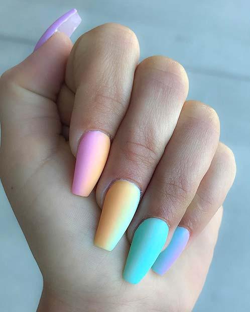 Pastel Gradient Nail Idea