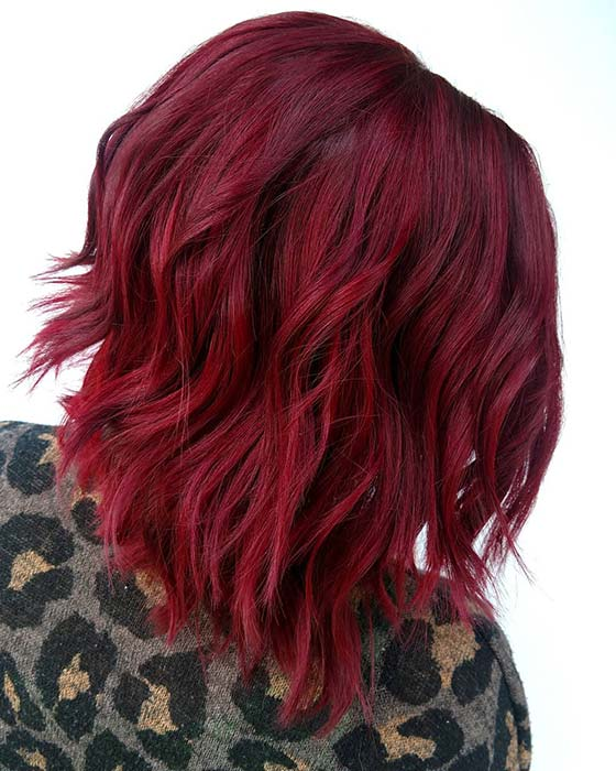 Red and Burgundy Ombre Hair
