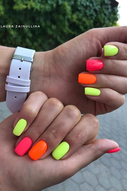 Short Neon Nails