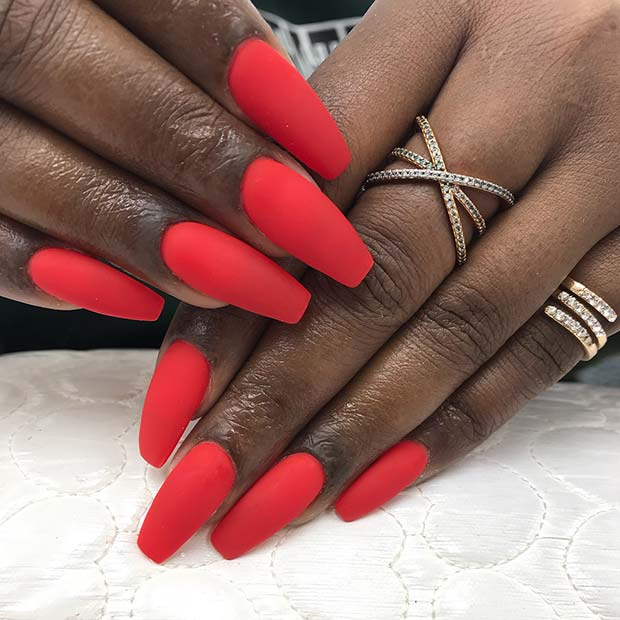 23 Best Red Acrylic Nail Designs Of 2019 Stayglam,Faith Beautiful Tattoo Designs For Women