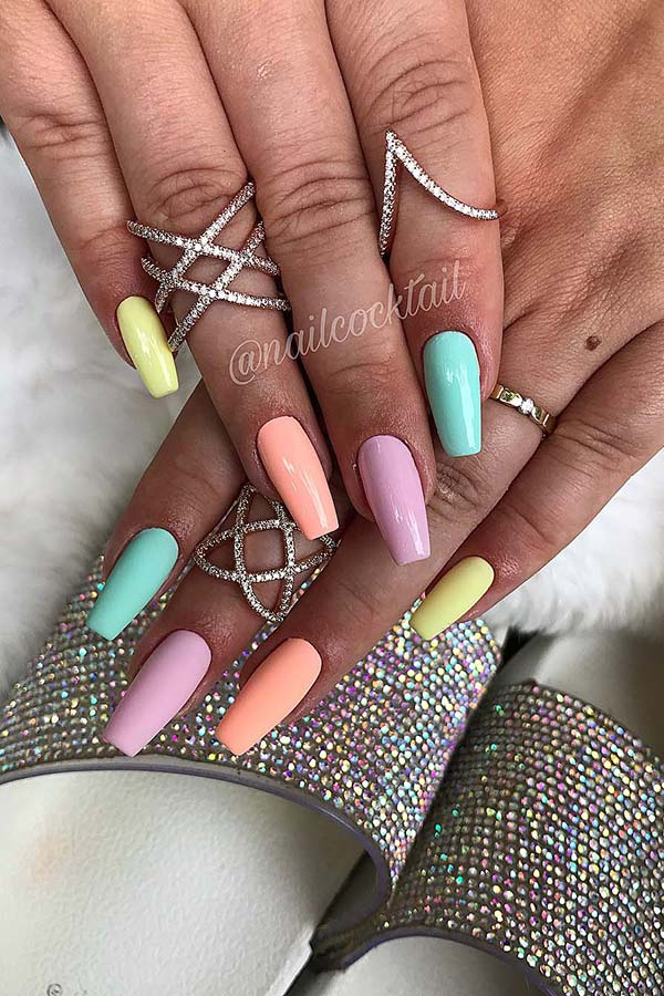 Pretty Pastel Nail Design