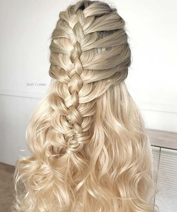 Statement Half Up Braided Hairstyle