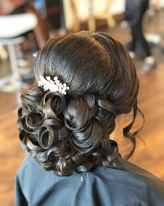 Stunning Curled Updo