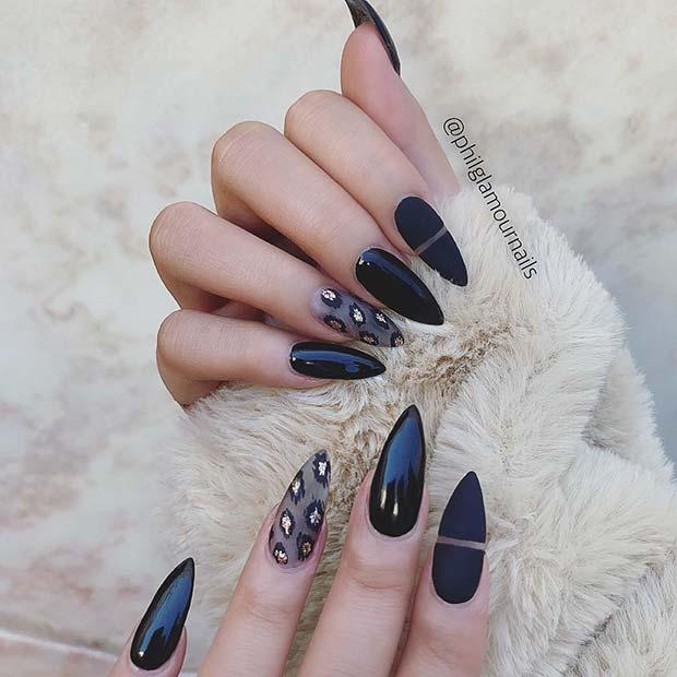 Trendy Leopard Print Stiletto Nails
