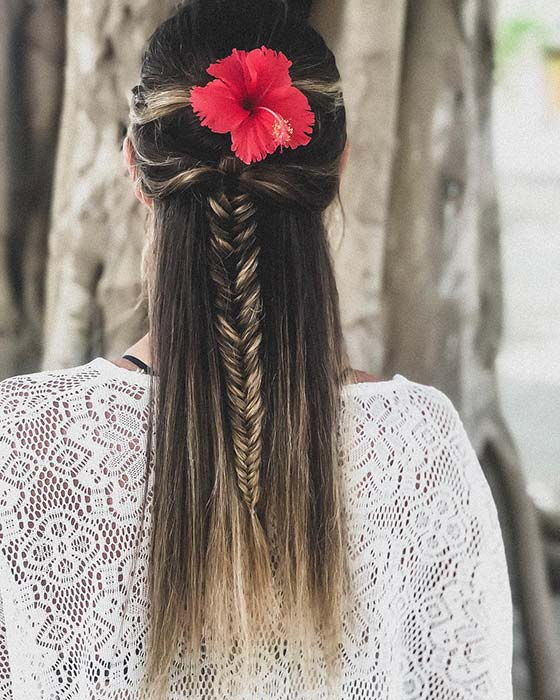Tropical Braided Hairstyle