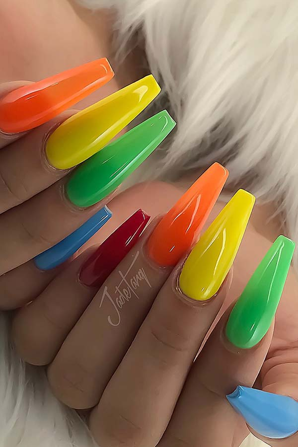 23 Colorful Nail Art Designs That Scream Summer