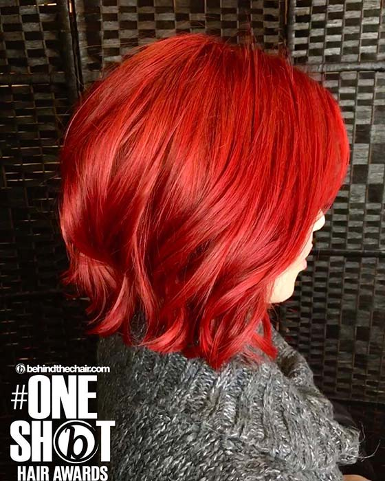 Vibrant Red Bob