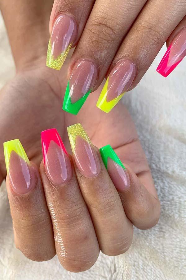 Vibrant Neon V Tips