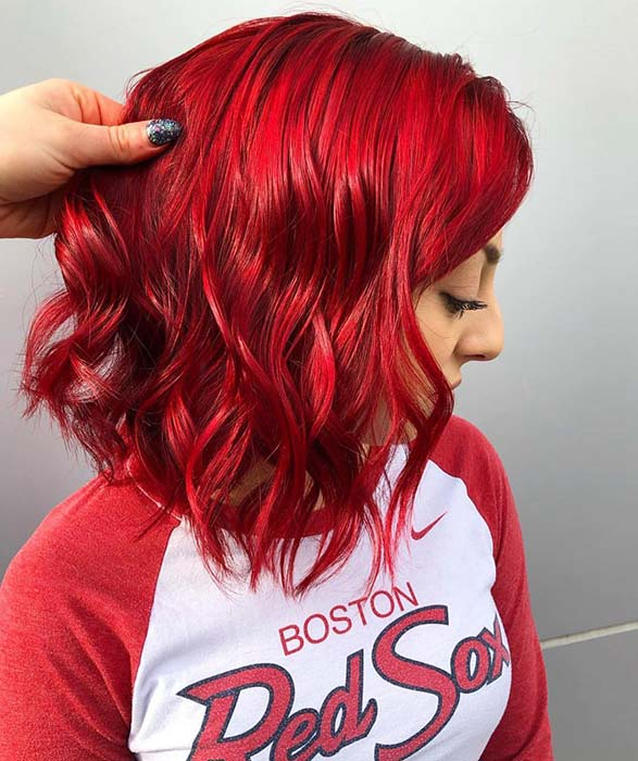 Vivid Red Bob
