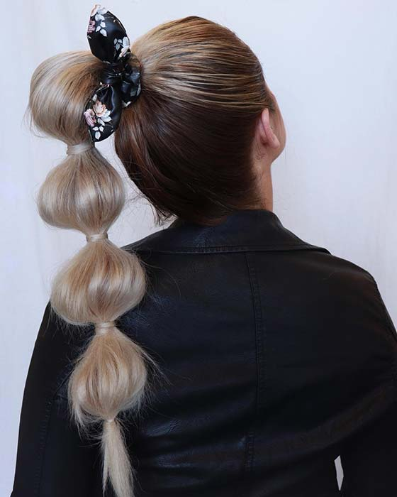 Accessorized Bubble Ponytail