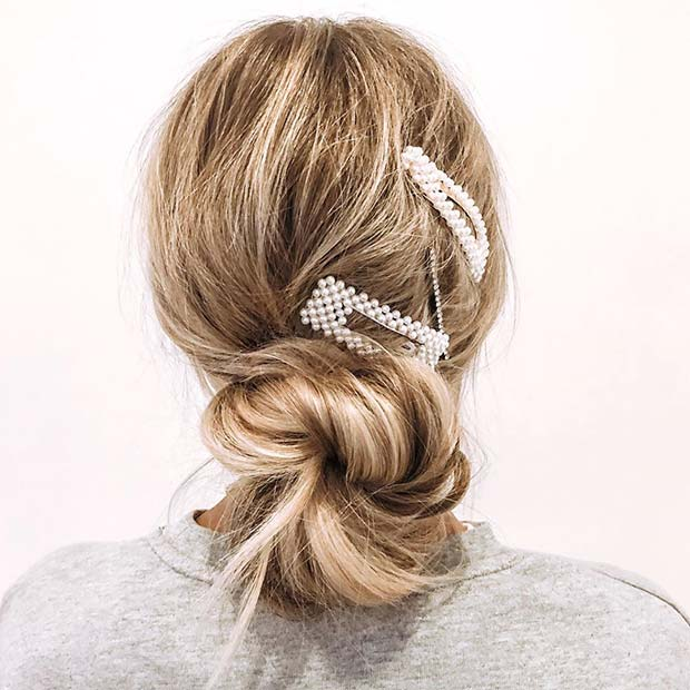 Accessorized Low Bun