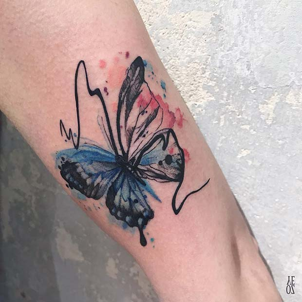 Artistic Butterfly Tattoo Design