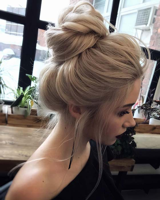 Beautiful Messy Bun for Long Hair