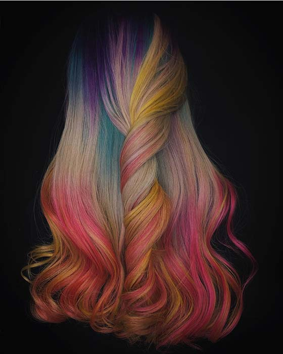 Beautiful Rainbow Hair
