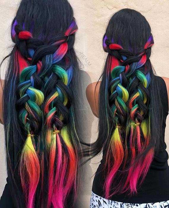 23 Rainbow Hair Ideas For A Bold Change Up Page 2 Of 2