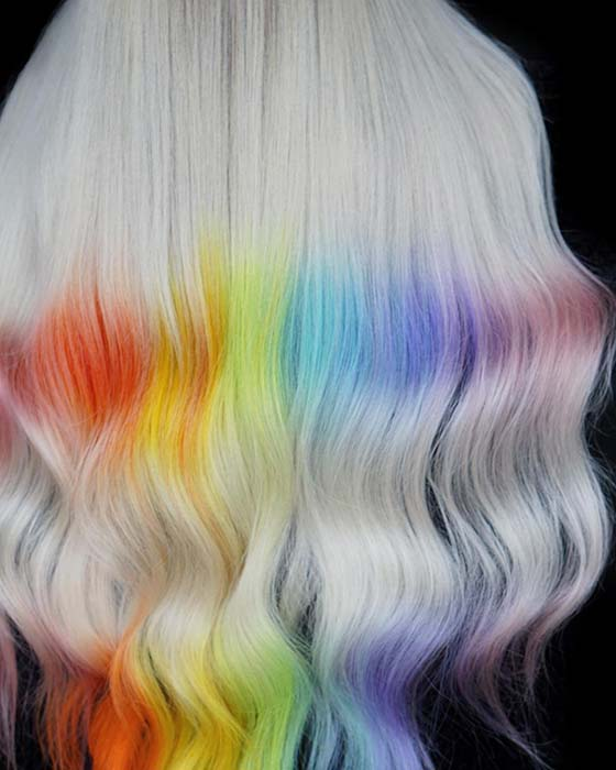 Blonde and Rainbow Colors