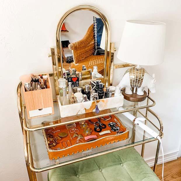 Boho Vintage Vanity Table