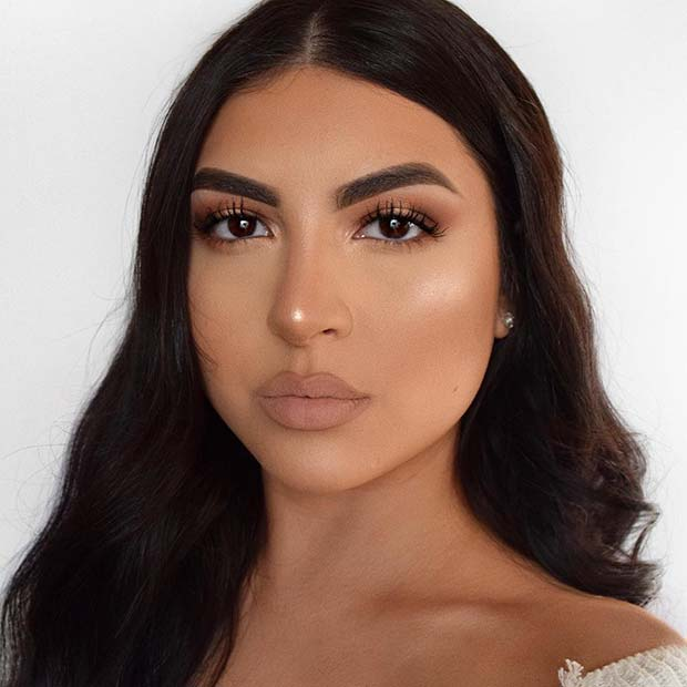 Bold Brows and Natural Eyes and Lips