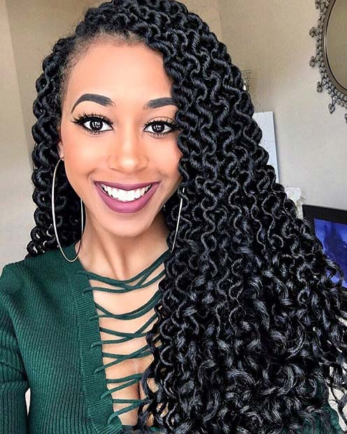Bold Curly Faux Locs