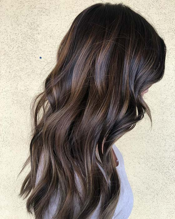 Chic Brown Highlights