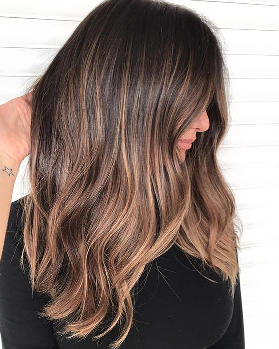 Chic Warm Highlights for Brown Hair