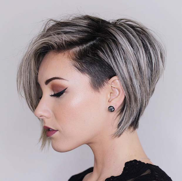 Chic Undercut with Highlights