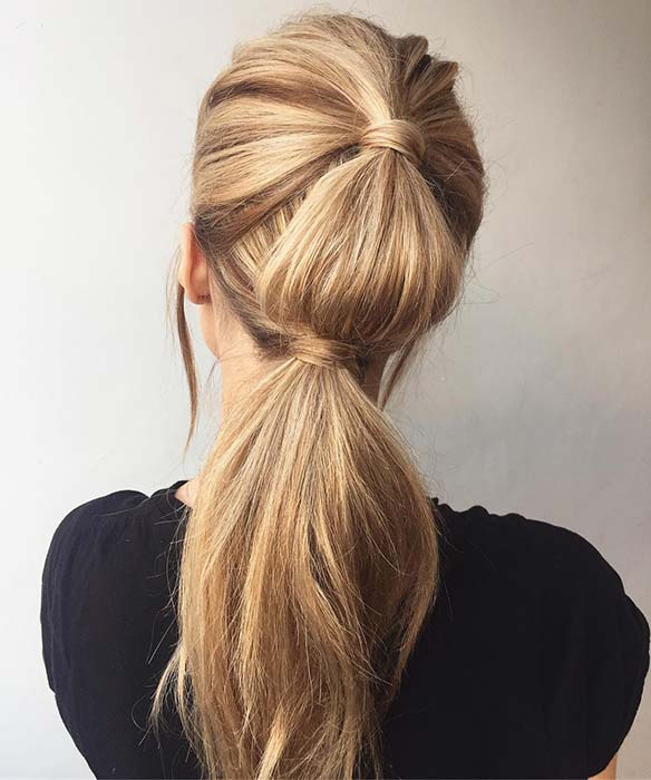 Chic and Unique Ponytail