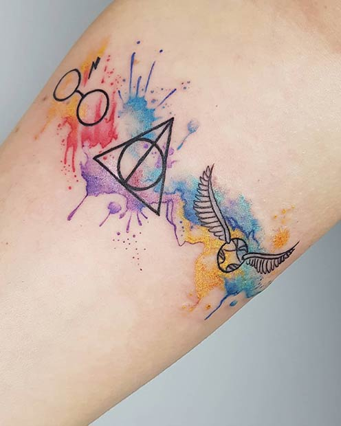 47 Cool And Magical Harry Potter Inspired Tattoos Page 4 Of 5 Stayglam