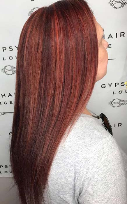 Fiery Highlights Hairstyle