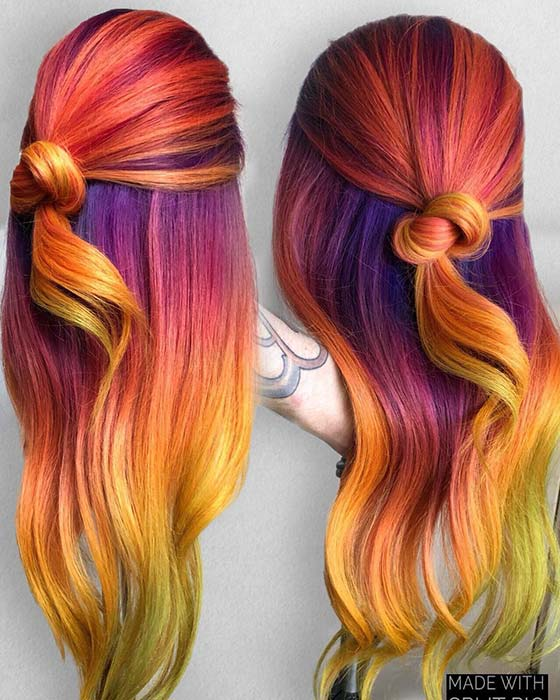 Fiery Rainbow Colors