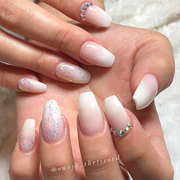 Glam Baby Boomer Nails