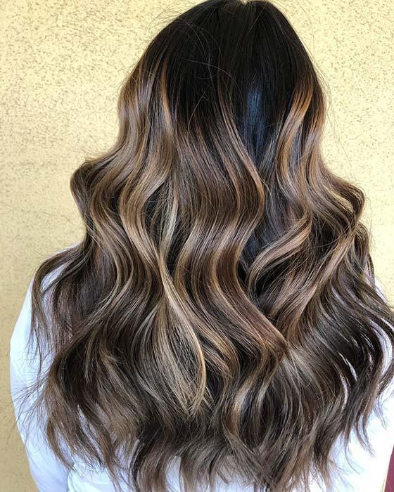 Glam Hair Color Idea