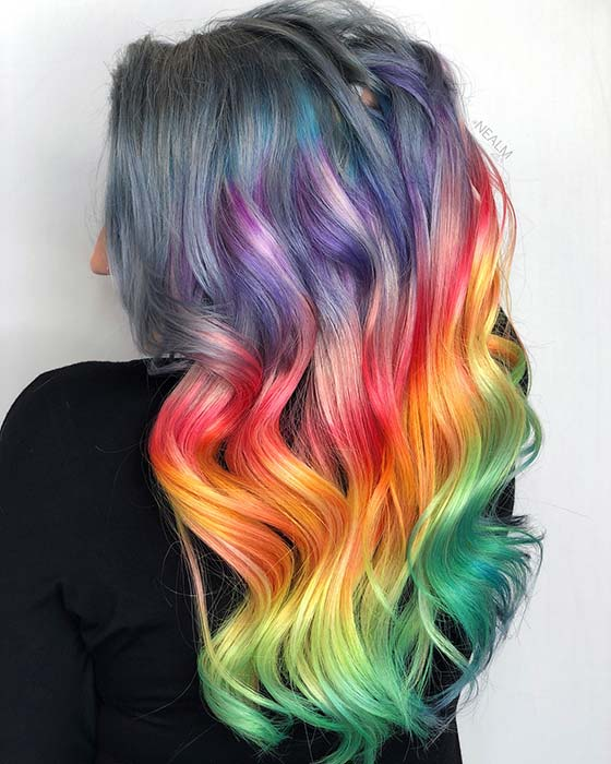 Horizontal Rainbow Colors