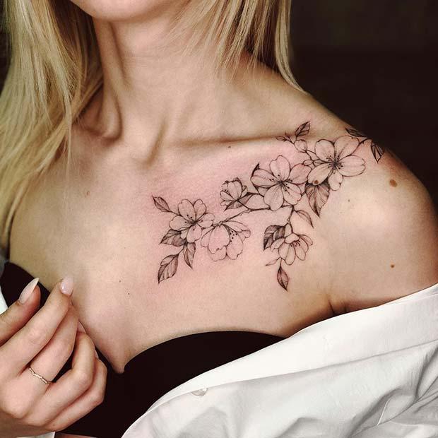 Large Flower Tattoo Idea