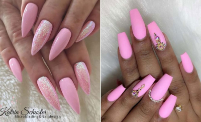 Light Pink Nail Designs
