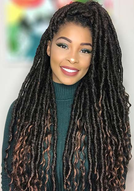 43 Ways To Pull Off Goddess Faux Locs Page 4 Of 4 Stayglam